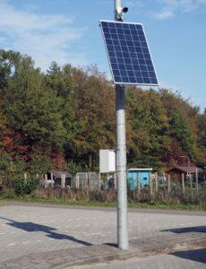 Tijdelijke camerabewaking zonne energie